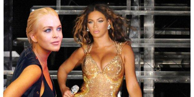 Beyonce warf Lindsay aus Garderobe