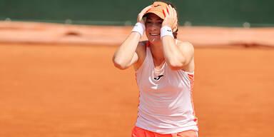 Zidansek als erste Slowenin in Major-Viertelfinale