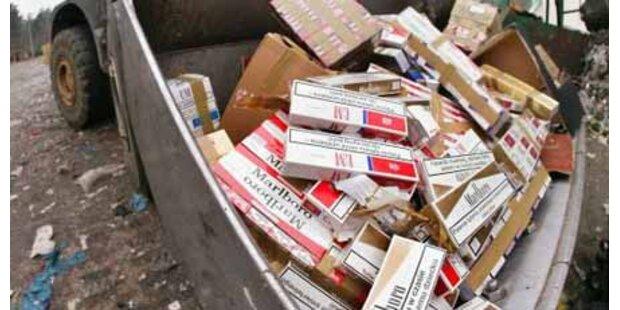 8 Mio Zigaretten hinter Gemüse entdeckt