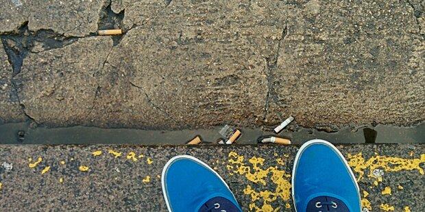 Wegwerfen von Zigaretten kostet bis zu 90 Euro
