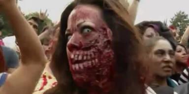 Zombies erobern Strassen in Mexiko