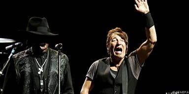 Zu den Gästen auf der Bühne zählte Springsteen