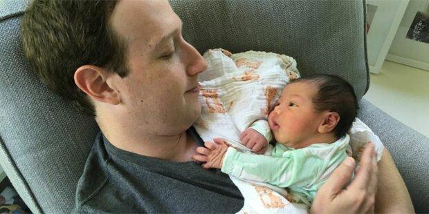 Zuckerberg: Süßes Foto mit Tochter August