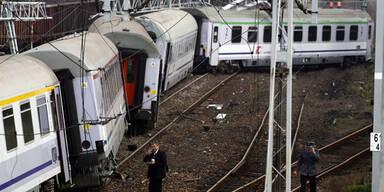Zug Wien - Warschau entgleist