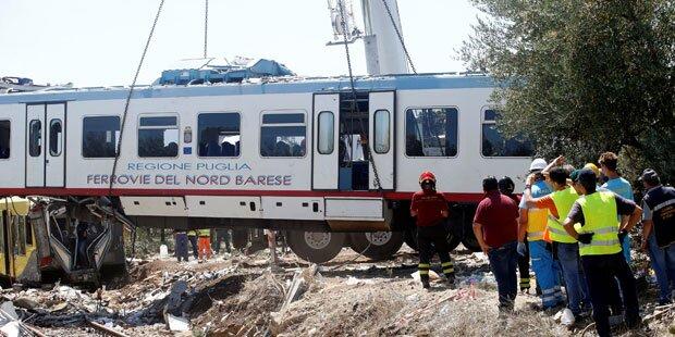 Zug-Crash in Italien: Offiziell 23 Todesopfer