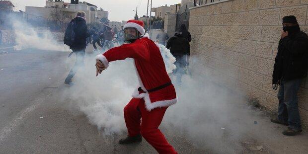 Bethlehem: Zusammenstöße bei Weihnachtsmarsch