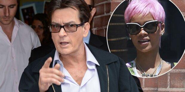 Charlie Sheen: Fieser Twitter-Zoff mit Rihanna