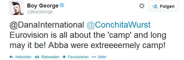 Boy George twittert über Conchita Wurst