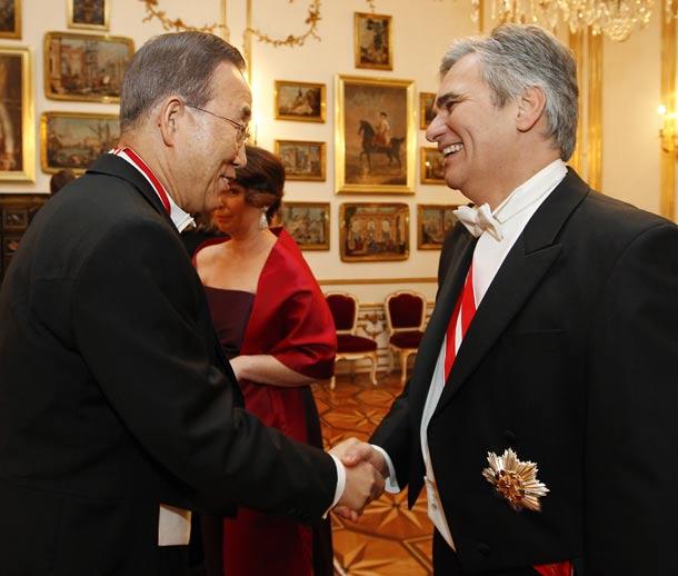Opernball: Essen beim Bundespräsident