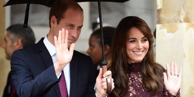 Herzogin Kate strahlt an Williams Seite