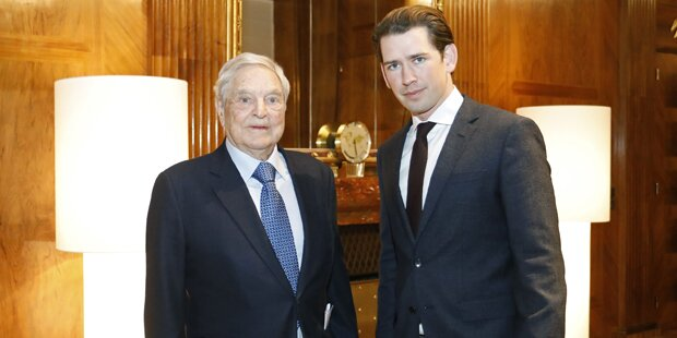 Hier trifft Kurz US-Milliardär George Soros in Wien