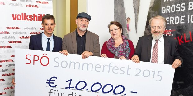 SP sammelte bei Kanzlerfest 10.000 Euro