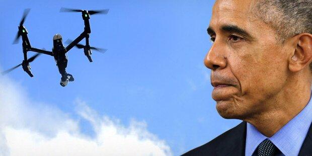 Obama von Hobby-Drohne verfolgt