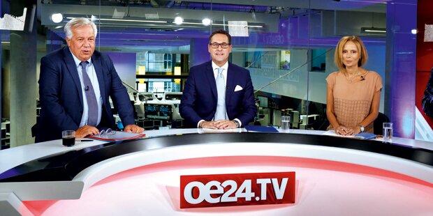 Top-Quote für Strache-Sommergespräch auf oe24.TV