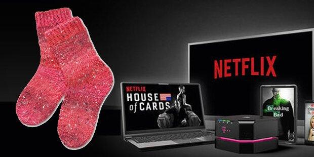 Netflix verkauft Socken, die Film stoppen, wenn man einschläft