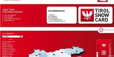 'Tirol Snow Card' ist in 77 Skigebieten gültig