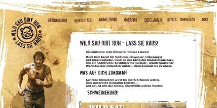 """""""Wild Sau Dirt Run"""": Lauf-Event für Hartgesottene"""