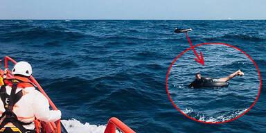 Drama: Migrant überquert Meer auf Reifen