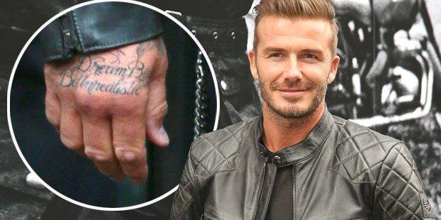 David Beckham zeigt Jay Z-Tattoo