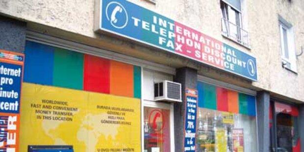 Bosnier überfielen 2 Telefon-Discounter