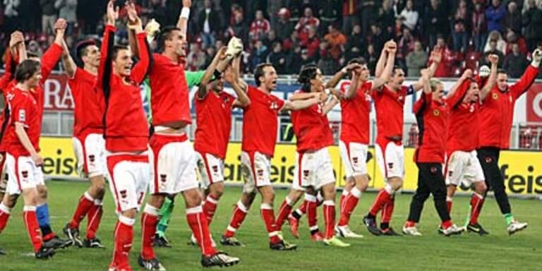Bundesliga auf Rot-Weiß-Roter-Welle