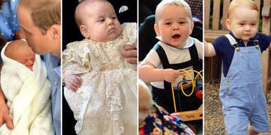 Prinz George wird ein Jahr alt: Seine schönsten Bilder
