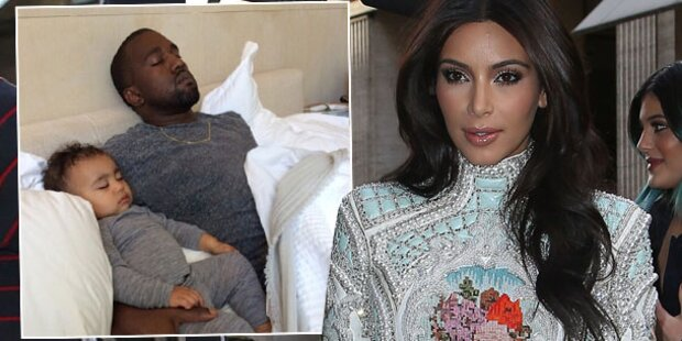 Kardashian: So süß schlafen Nori & Kanye