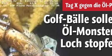Mit Golfbällen gegen Monster-Öl-Loch