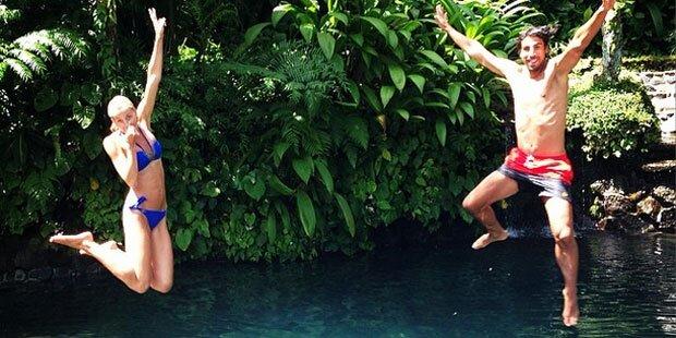 Lena Gercke: Badespaß mit Sami