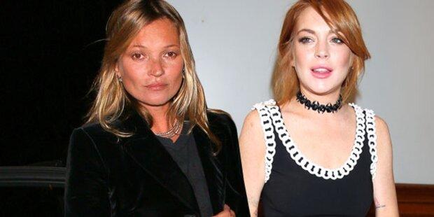 Lohan: Zickenzoff mit Kate Moss