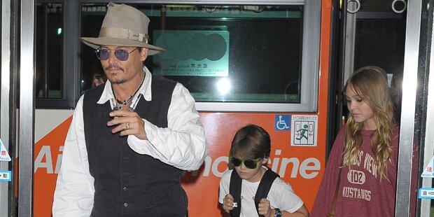 Depp & Smith: Dreh mit Töchtern