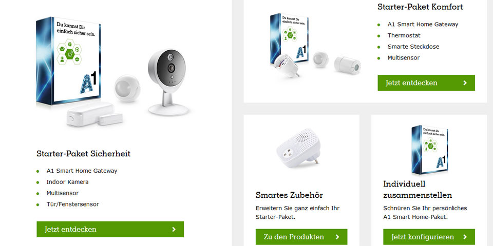 A1 bringt Smart Home Komplett-Lösung