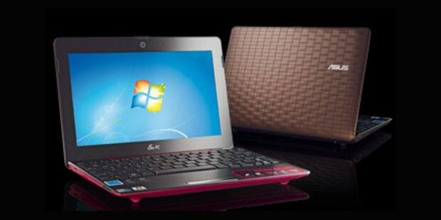 Design-Netbook inkl. Windows 7 ab 49 Euro