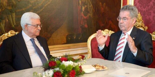 Palästinensischer Präsident Abbas auf Blitz-Besuch in Wien