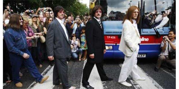 Beatles-Fanauflauf in der Abbey Road