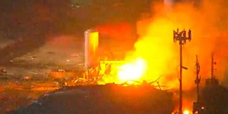 Heftige Explosion erschütterte Houston