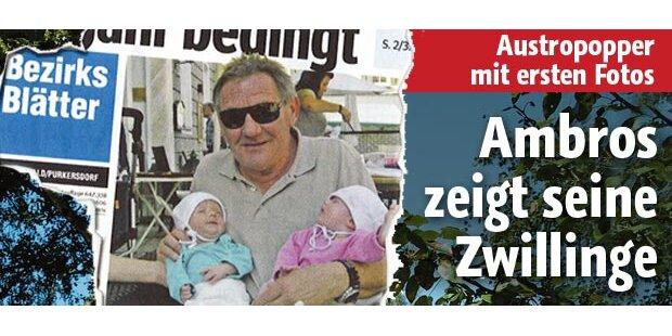 Ambros zeigt erstmals seine Zwillinge