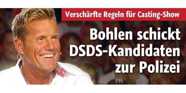 DSDS-Kandidaten müssen zur Polizei