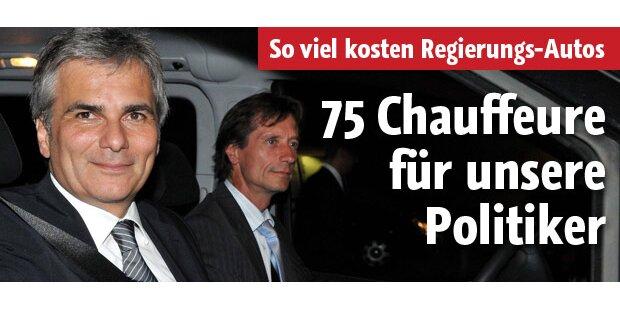 75 Chauffeure für unsere Regierung