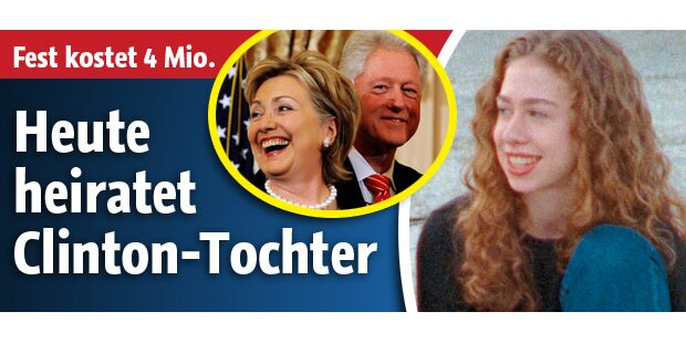 Heute heiratet Clinton-Tochter