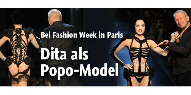 Gaultier-Comeback mit fast nackter Teese