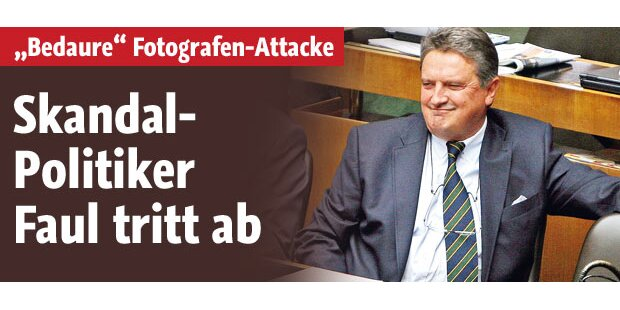 Skandal-Politiker Faul tritt ab