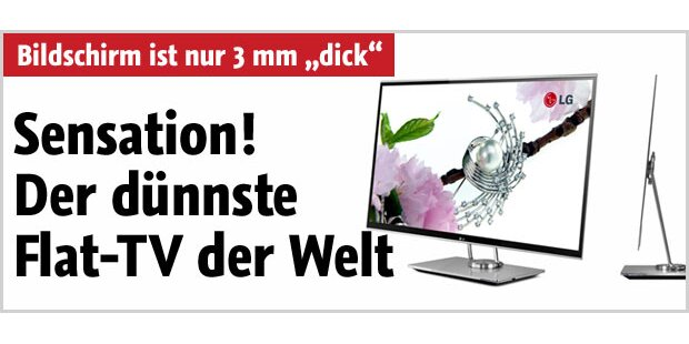 LG zeigt flachsten 3D-Fernseher der Welt