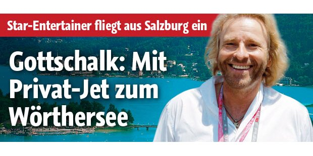 Gottschalk: Privat-Jet an den See