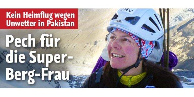 Pech für die Super-Bergfrau