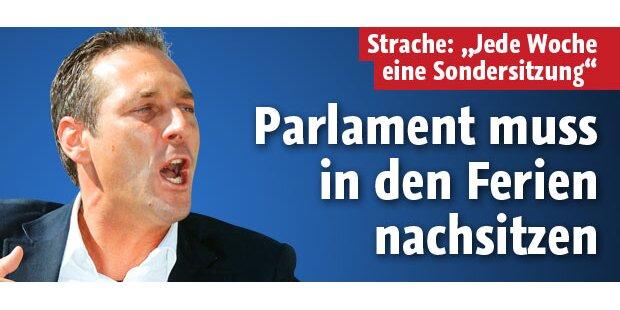 Parlament muss in den Ferien nachsitzen
