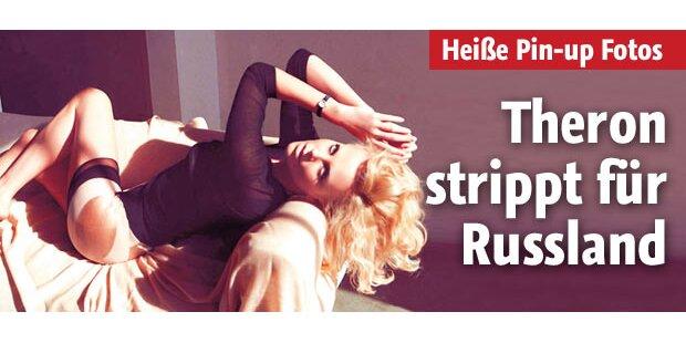 Theron strippt für Russland