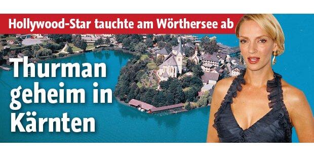 Uma Thurman geheim in Kärnten