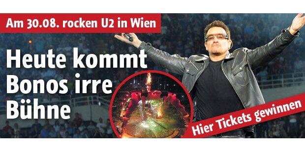 Heute kommt Bonos Mega-Bühne