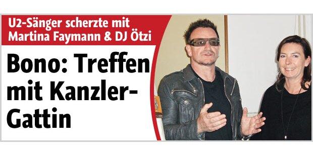 Bono kennt DJ Ötzi und traf Kanzlerfrau